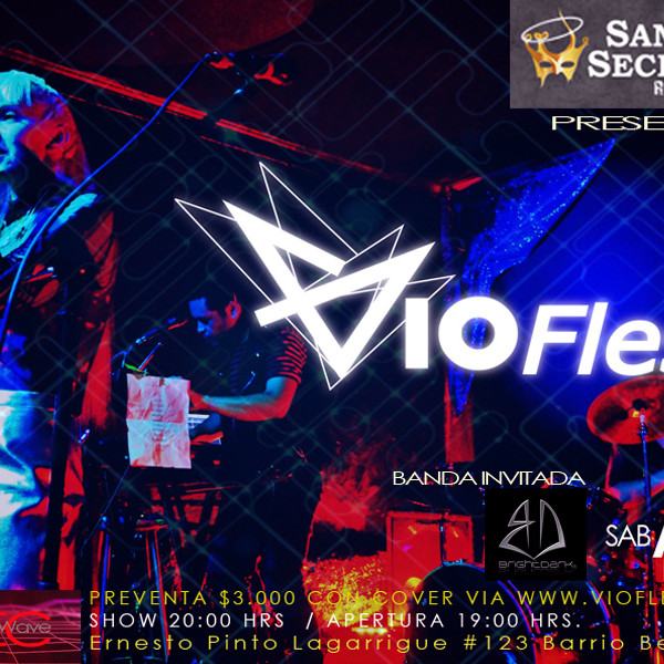 Vioflesh en vivo Santo Secreto Rock Star