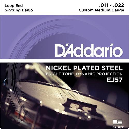 D'Addario EJ57 5 String Banjo Strings