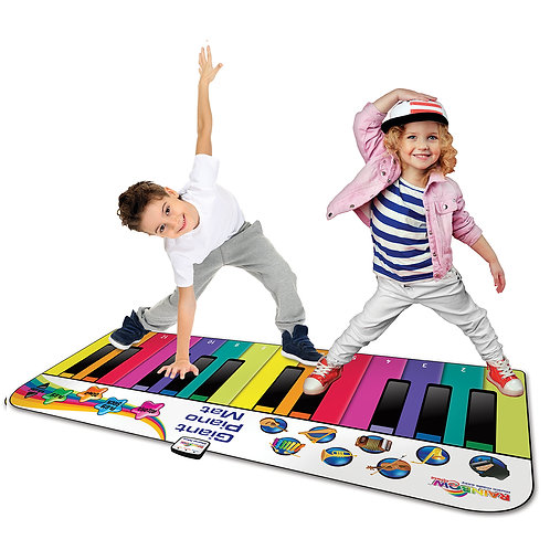 RAINBOW COLOURS 6FT GIANT PIANO DANCE MAT