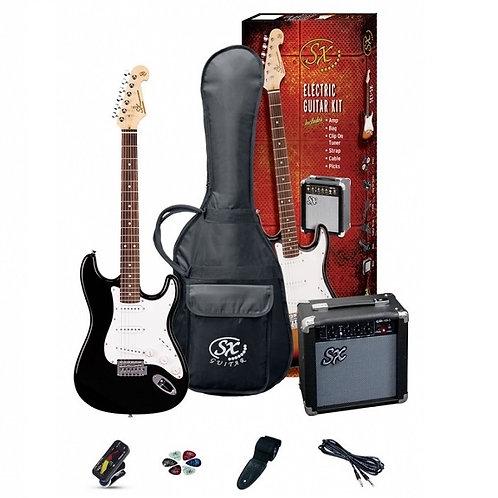 SX Electric Guitar Pack / Black