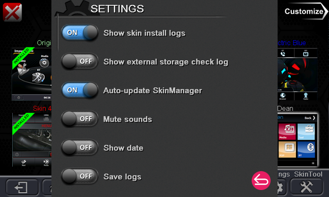 May 2016 Skinpack - New Skinmanager interface - New Skin4 Themes