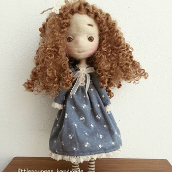 Preparing  new doll for esty shop _#doll