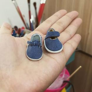 Testing new shoes pattern._#dollshoes #l