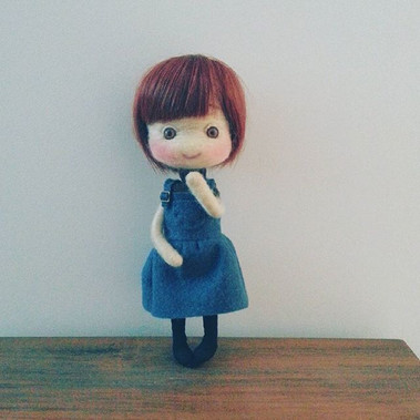 Hi pretty. _#doll  #wool  #handmade  #li