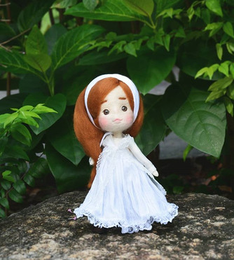 Doll with natural _#littlepoupeestudio #