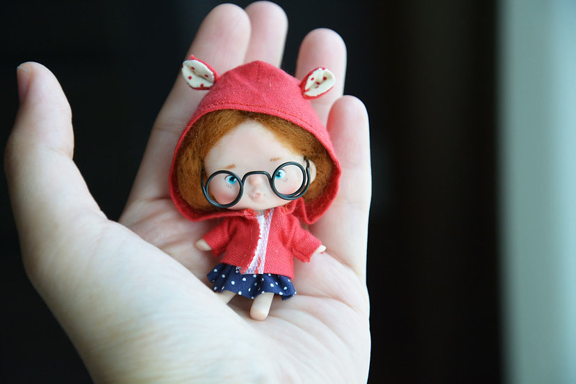 Red hood tiny doll
