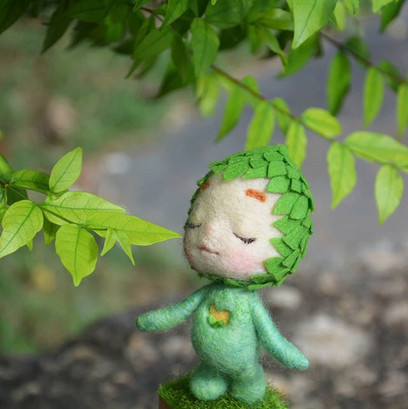 The green fairy and the nature._#nature