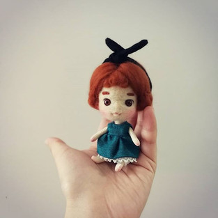 My latest tiny doll ! She's only 10cm ta