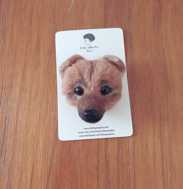 Doggy ~~_#brooch #needlefelting #dog #pu
