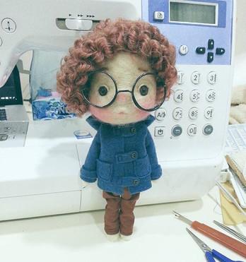#handmade  #needlefelting  #doll  #dollc