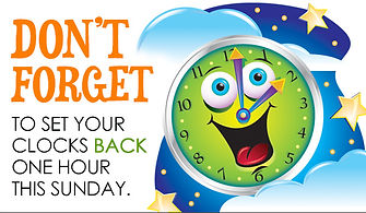 Don't Forget to Set Your Clocks Back One Hour on Sunday
