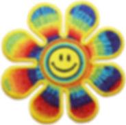 Tie Dye Smiley Flower