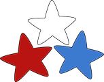 Red, White and Blue Stars 2