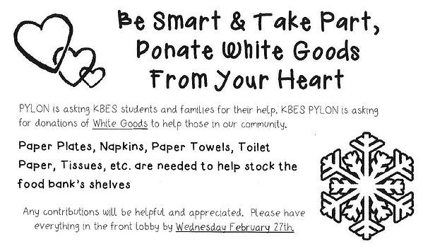 Collecting White Goods till  2/27/19