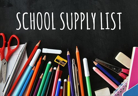 school supply list clipart