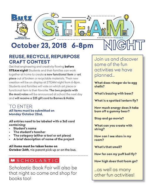 STEAM Night Flyer
