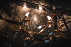 Twisted Light - Metal chandelier