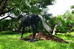 Welded Metal Horse Garden Sculpture