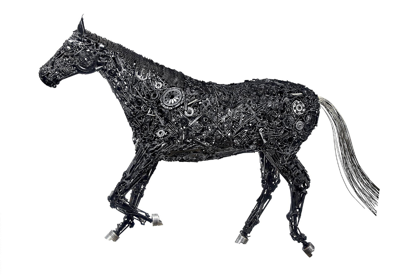 Metal Scrap Composition of a Horse