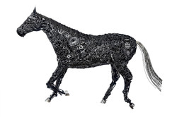 Metal Scrap Composition of a Horse