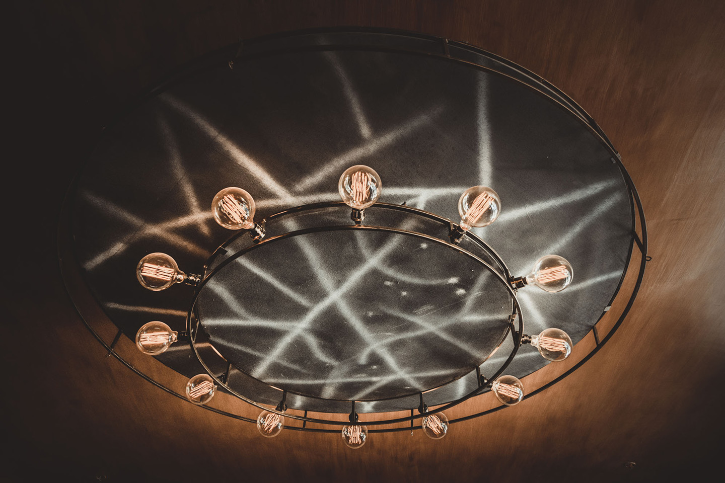 Round Industrial Chandelier