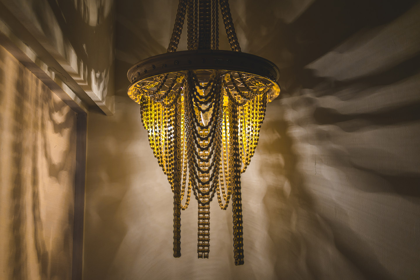 Cycle Chain Light Chandilier