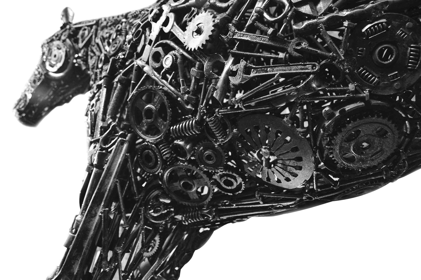 Automotive Scrap Sculpture
