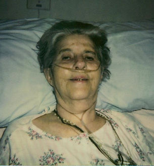 Olympia Olson shortly before her death in 1994.