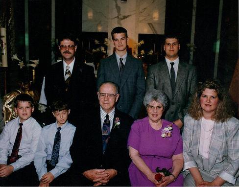 John Olson's family picture, 1992.