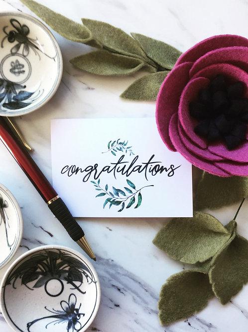 Congratulations, greeting card (small)