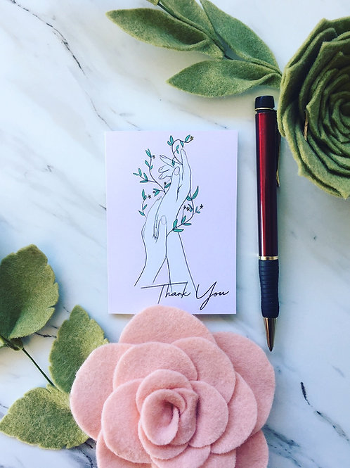 Thank You, greeting card (small)