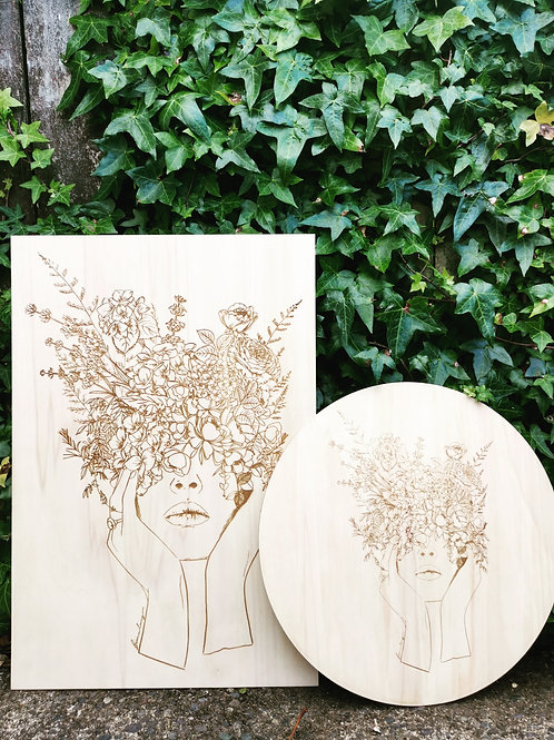Mila | Laser engraved on Ply