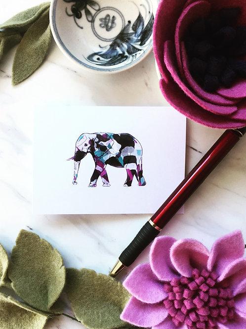 Elephant, greeting card (small)