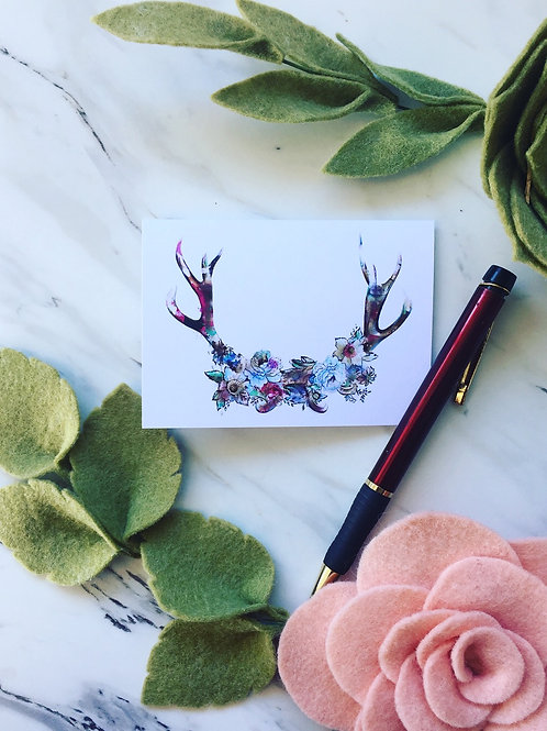 Antlers, greeting card (small)