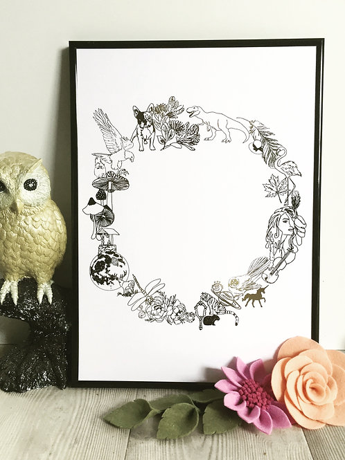 O N E.   Foil prints