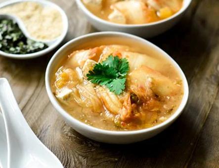 Radish and Kimchi Soup