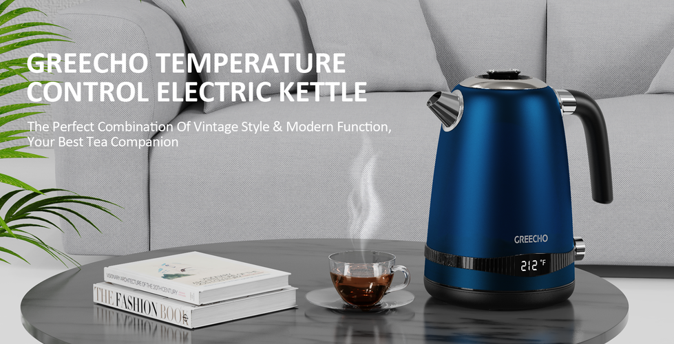 GREECHO 1.7-Liter Temperature Control Electric Kettle