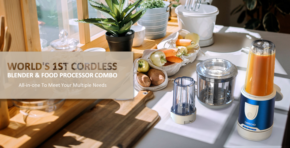 GREECHO Cordless food processor  blender grinder comb