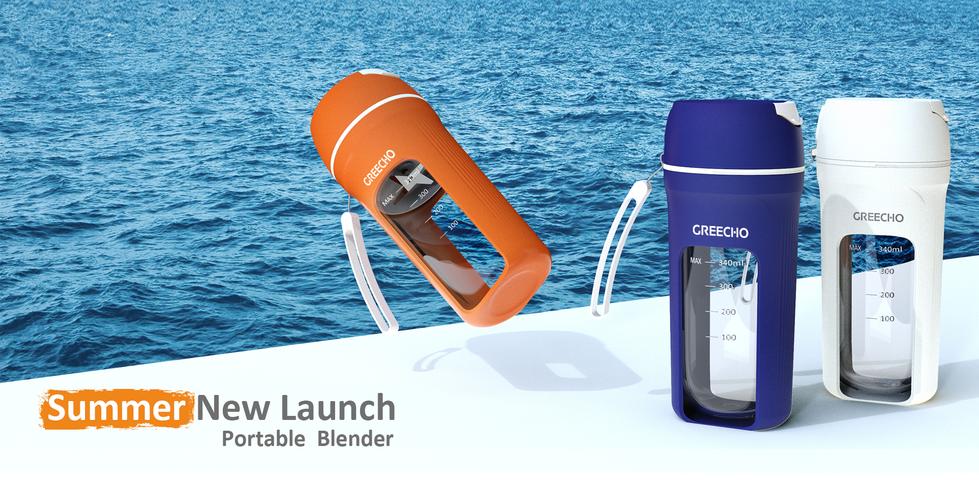 GREECHO Portable Blender White Blue Orange