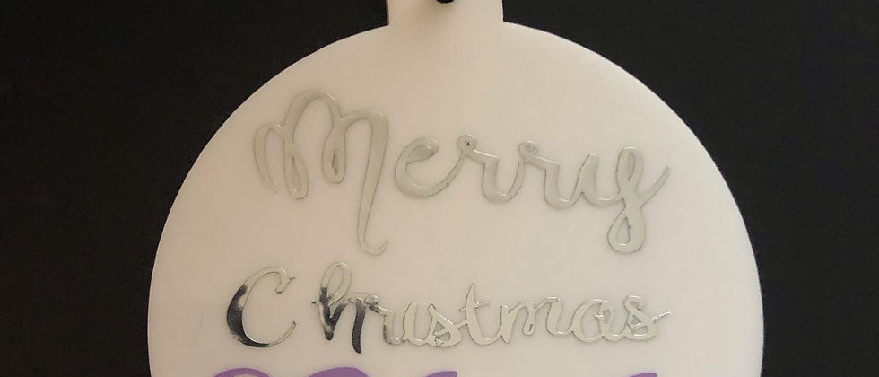 Personalised Flat Acrylic Baubles