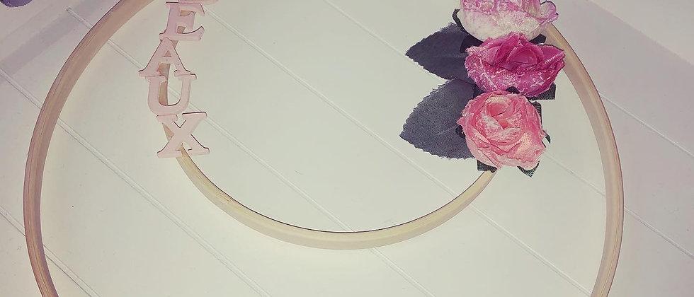 Personalised Flower Hoops