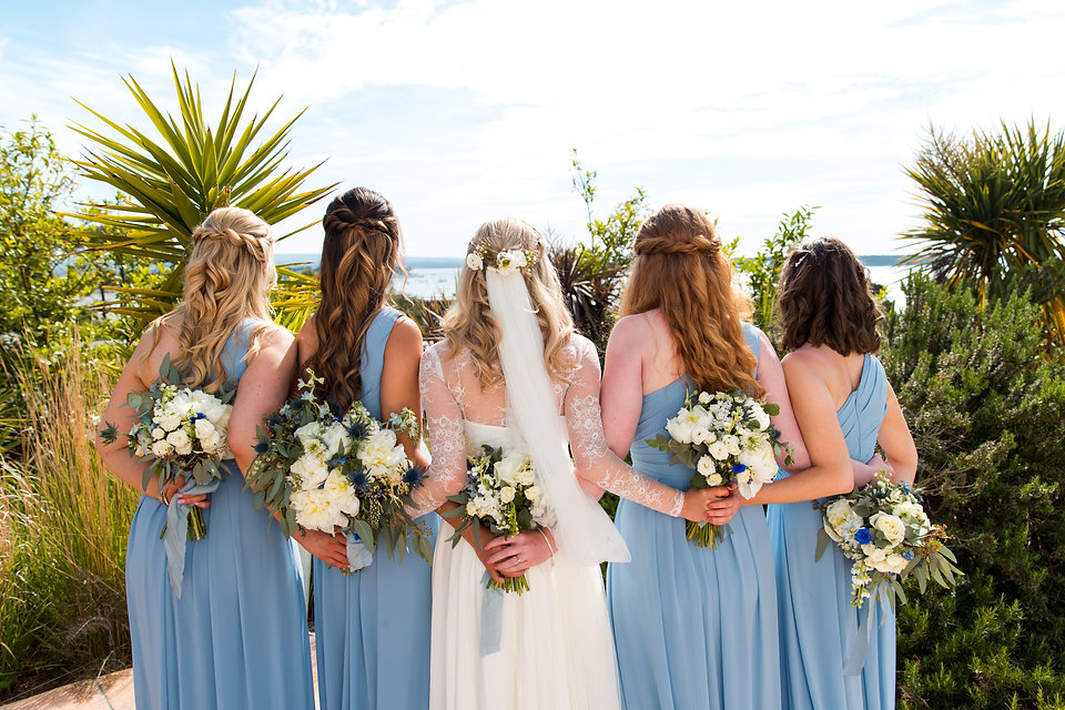 Bridal and bridesmaids hair in Poole