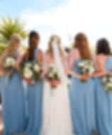 Bridesmaids half up half down hair
