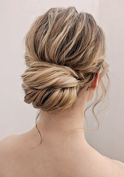 Hair updo textured bun
