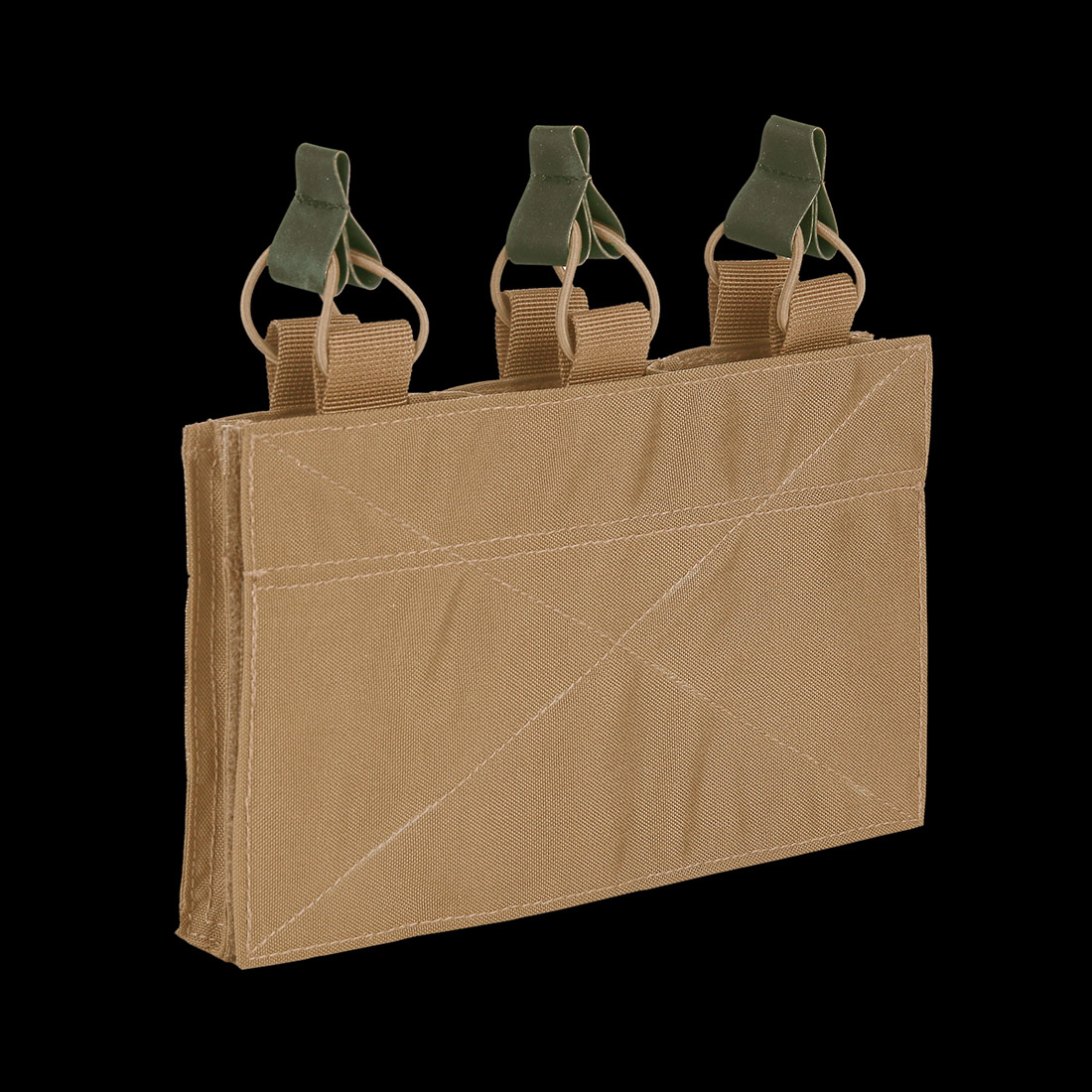 TF-2215 Triple M4 Pouch Velcro Panel Coyote