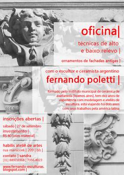 2014 . OFICINA . habilis atelier . técnicas de alto e baixo relevo, ornamentos de fachadas antigas