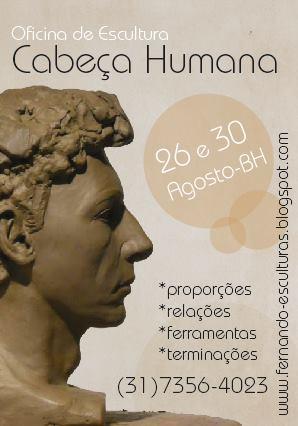 2014 . OFICINA LIVRE . modelagem de cabeça humana