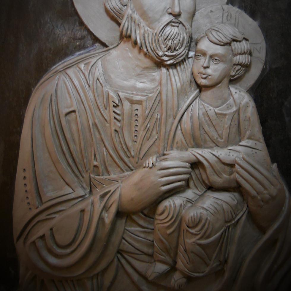 escultura . FERNANDO POLETTI . figura bizantina
