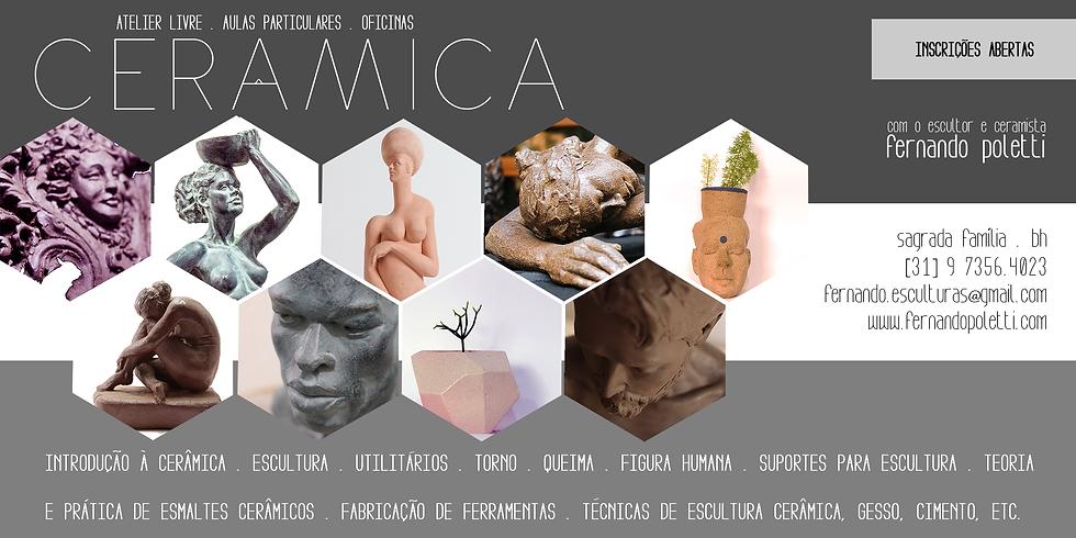 Aulas de Escultura e Cerâmica