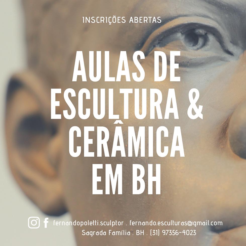 inscrições abertas . aulas de escultura e cerâmica com o escultor FERNANDO POLETTI